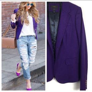 J.Crew RARE Wool Blazer Jacket Royal Purple